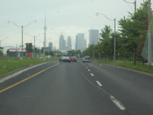 A view of downtown Toronto, CN Tower on the left