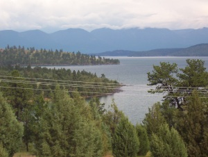Beautiful Flathead Lake--largest fresh water lake in US